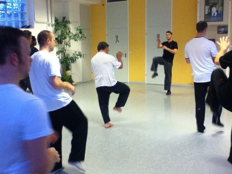 Das Foto vom 29.11.14 zeigt die Einführung durch Sifu Peter Steiner in das Seminar